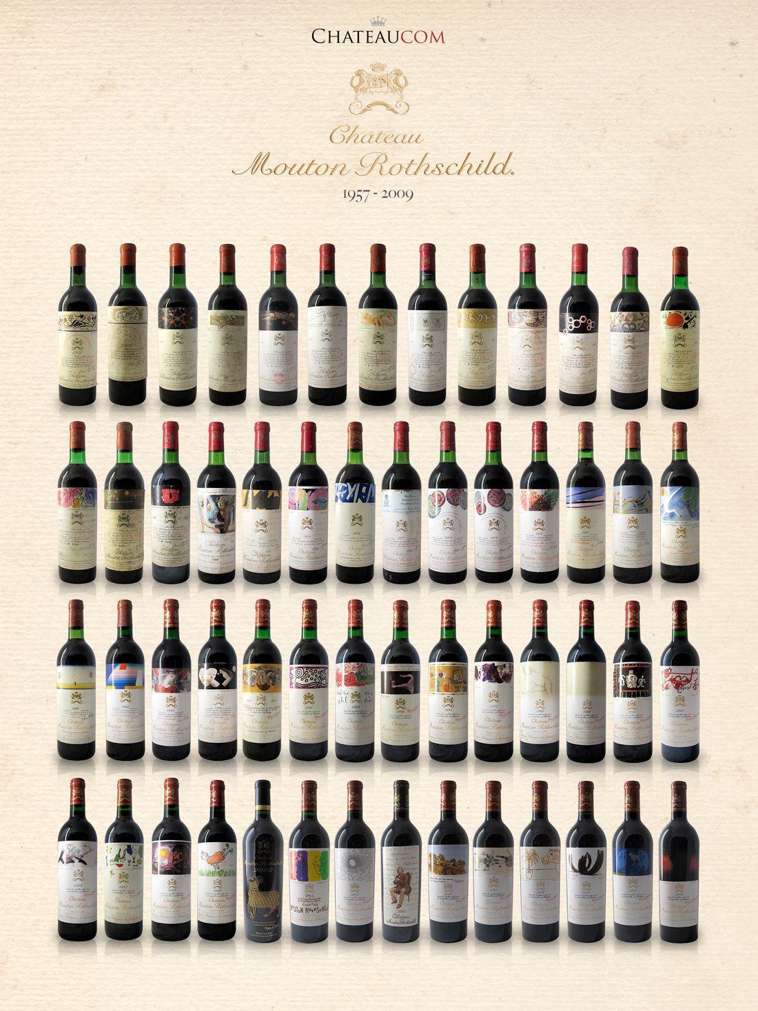 Collection Château Mouton Rothschild 1957-2009