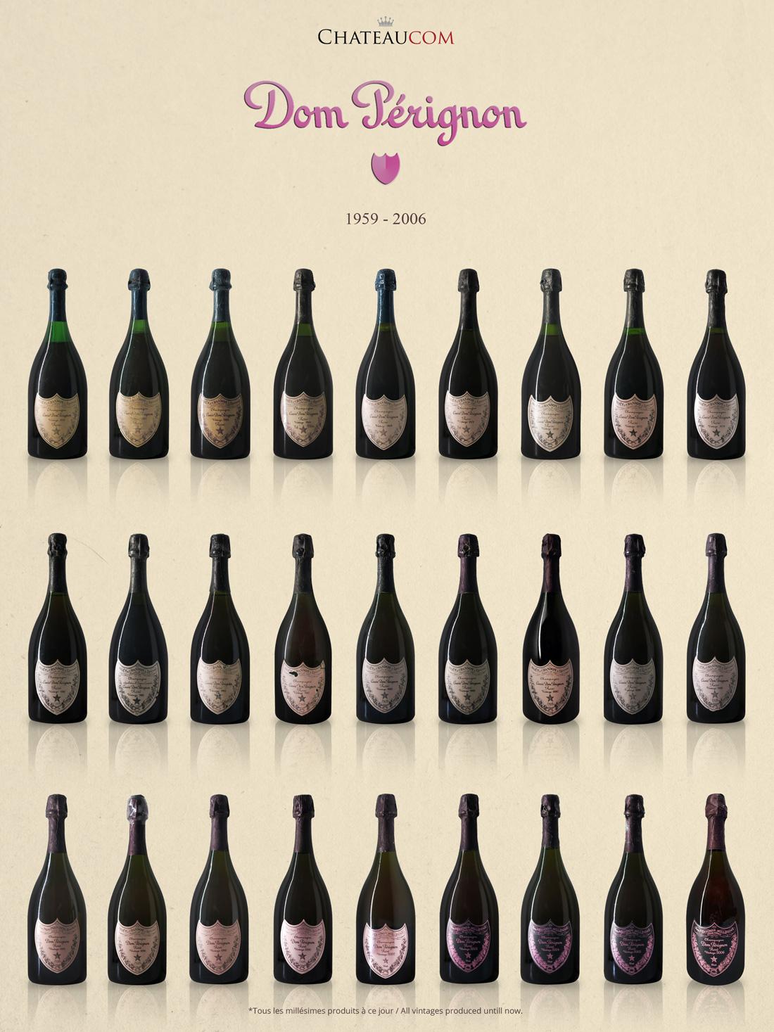 Collection Dom Perignon Rose 1959-2006