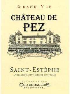 Château de Pez 2018 6本入セット、産地木製ケース入(6x75cl)
