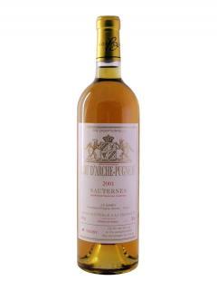 クリュ*・ダルシュ・ピュニョー(*クリュはブドウ畑や醸造所で格付け制度で使われる言葉) トリ・エクセプショネル 2001 ボトル(75cl)
