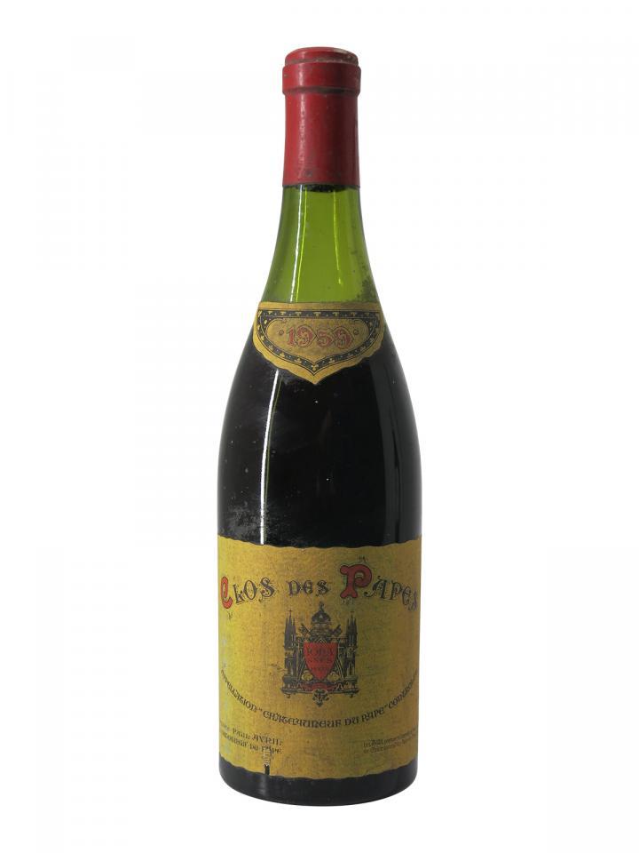 シャトーヌフ・デュ・パップ クロ・デ・パップ 1959 ボトル(75cl)