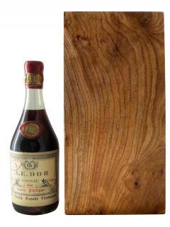 コニャック グランド・シャンパーニュ・ルイフィリップ、特別長期熟成 AEドール 1840 ボトル1本入り、産地木製ケース入(1x75cl)