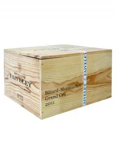 バタール・モンラッシェ グラン・クリュ ドメーヌ・ファイヴリー 2011 6本入セット、産地木製ケース入(6x75cl)